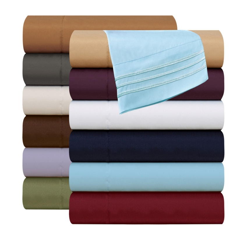 Bedding Sets Brave Bedding Fitted Sheet Flat Sheet Pillowcase 3/4pcs Egyptian Comfort 1800count Deep Pocket Bed Sheet Set Us Domestic Shipping