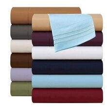 Bedding Fitted sheet Flat sheet Pillowcase 3/4pcs Egyptian Comfort 1800Count Deep Pocket Bed Sheet set US domestic shipping