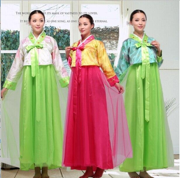 4415f569c108 New Coreano Hanbok Vestiti Convenzionali Asia Tradizionale Vestiti Donna  Abiti abbigliamento Abiti Da Sera Cantante Costume Cosplay in New Coreano  Hanbok ...