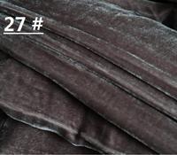 Hoogwaardige olijfgroen zijde zijde licht kleur doek fluwelen stof zijde Fluwelen met licht gevoel