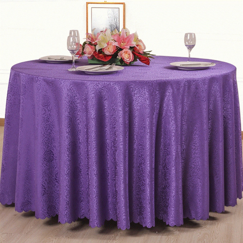 TOP Embroidery Rectangular And Round Table Cloth Machine Washable Tablecloth  Christmas Banquet Party Decoration In Tablecloths From Home U0026 Garden On ...