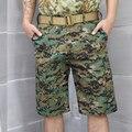 DOD SHOURTS Tático Camuflagem Capri Calças Dos Homens de Poliéster de Algodão Cortadas calças Quick Dry Calças Moda Casual Acampamento Turnê