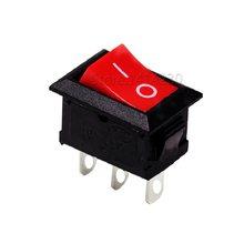 10 sztuk wysokiej jakości przełącznik Rocker 3Pin SPST 15X21MM czerwony włącznik/wyłącznik zasilania
