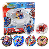 3 Styles Spin Tops Burst Metal Fusion Set 6 Gyros+2 Launchers+2 Handles+1 Plastic Arena Toys For Children #E