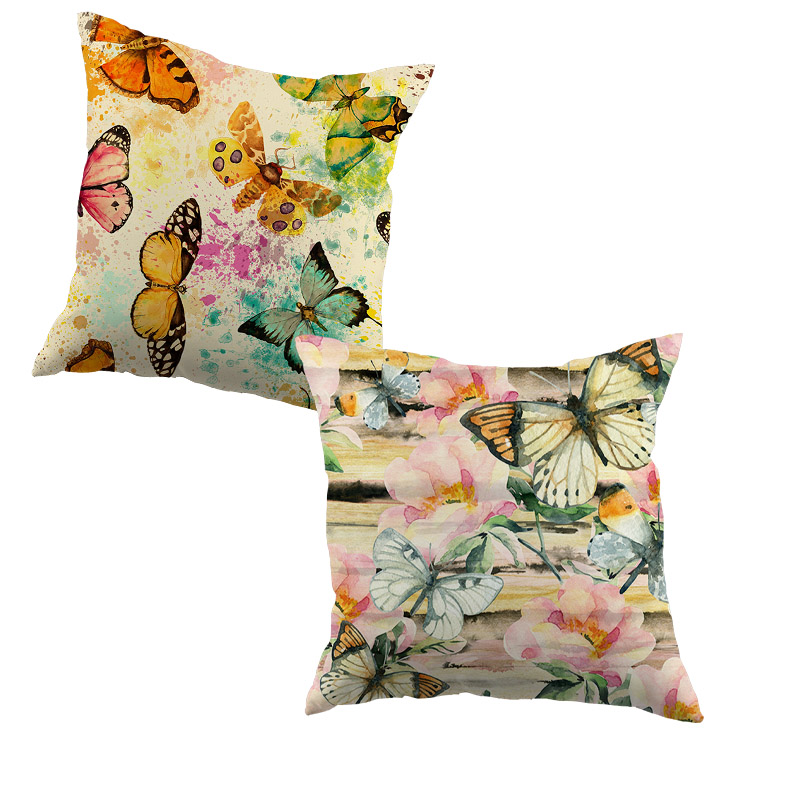 Aquarell Stil Schmetterlinge Kissen Abdeckungen Bunte Schmetterling Kissenbezug Der Haus Der Sofa