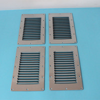 4 Pieces Stainless Steel Air Vent Grille Wall Ducting Cover Ventilation Louvre 5 9 Inches