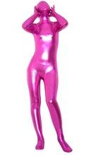 Rosy Shiny Metallic Tights for classic halloween costumes Unisex original Fetish Zentai Suits