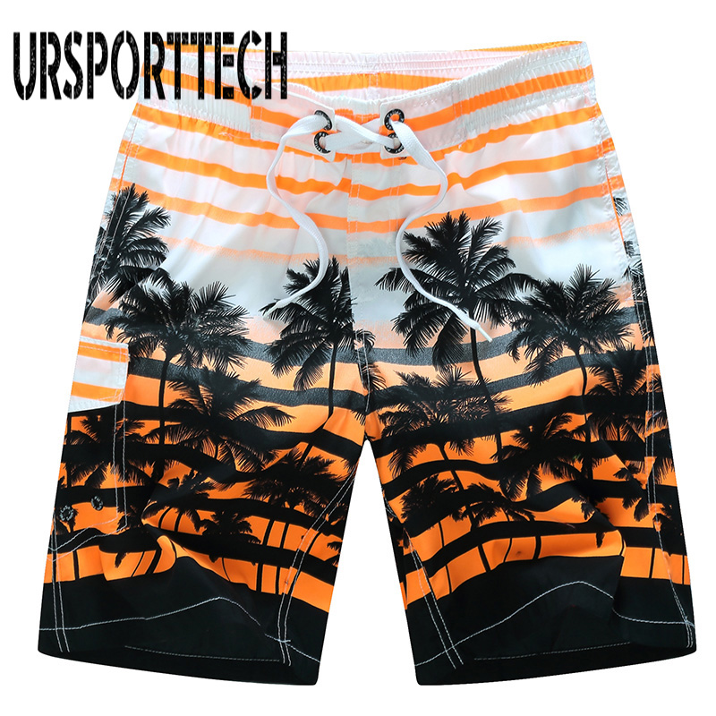 Quick Dry Beach Shorts Men Summer Fashion 3D Printed Elastic Board Shorts Trunks Summer Beach Briefs Men Shorts Plus Size M-6XL