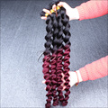 """Brazilian Virgin Hair Ombre Hair Extensions Loose Wave 10""""-26"""" Inch Ombre Two Tone 1B Burgundy 99j 3Pcs Lot Cara Hair Products"""
