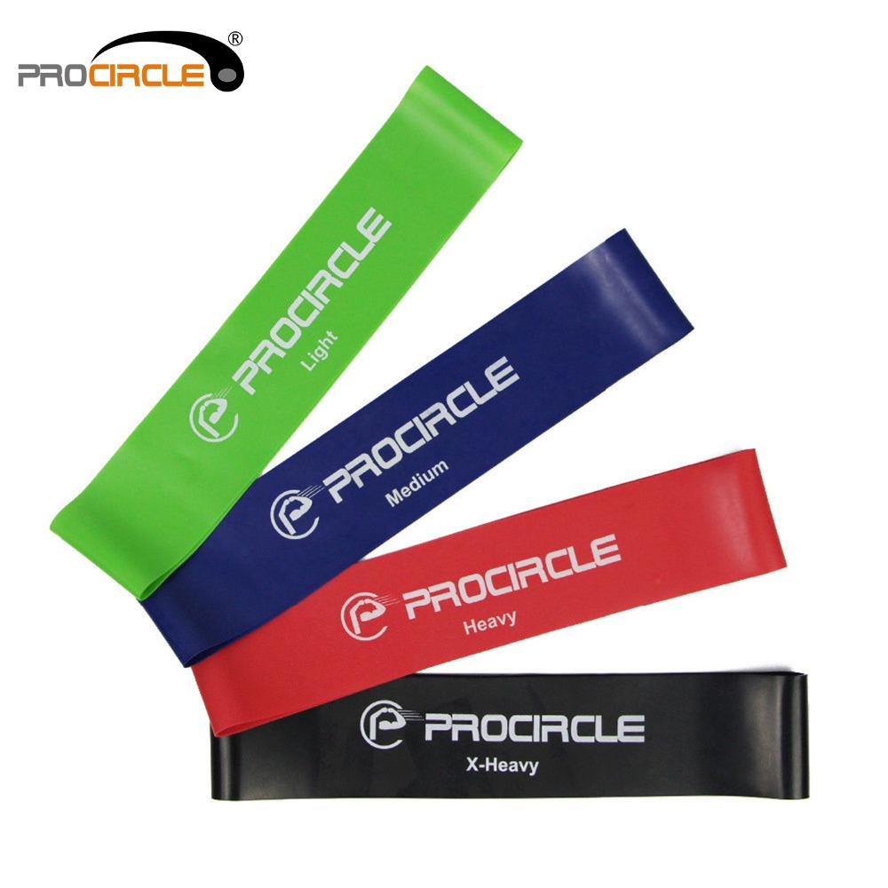 PROCIRCLE Resistance Workout Bands Loop Band Set for legs and butt Physical Therapy Fitness Exercise 12 *  2 inches
