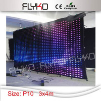 Wholesales high quality led video cloth 4*3M led vision cloth ,led curtain stage screen