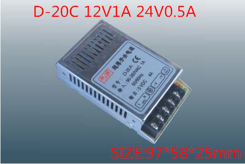 20W Dual Output Switching power supply Output Voltage 12V 24V AC-DC  D-20C free shipping120w mini dual output switching power supply output voltage 5v 24v ac dc d 120b