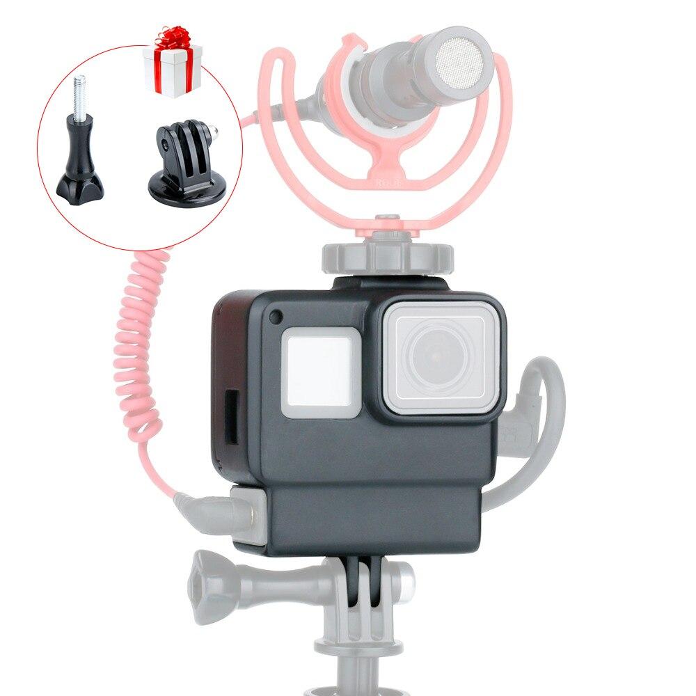 ULANZI V2 Gopro jaula Cámara Marco de protección para Gopro 7 6 5 cámara de Acción Vlog accesorios con zapato caliente para micrófono Luz