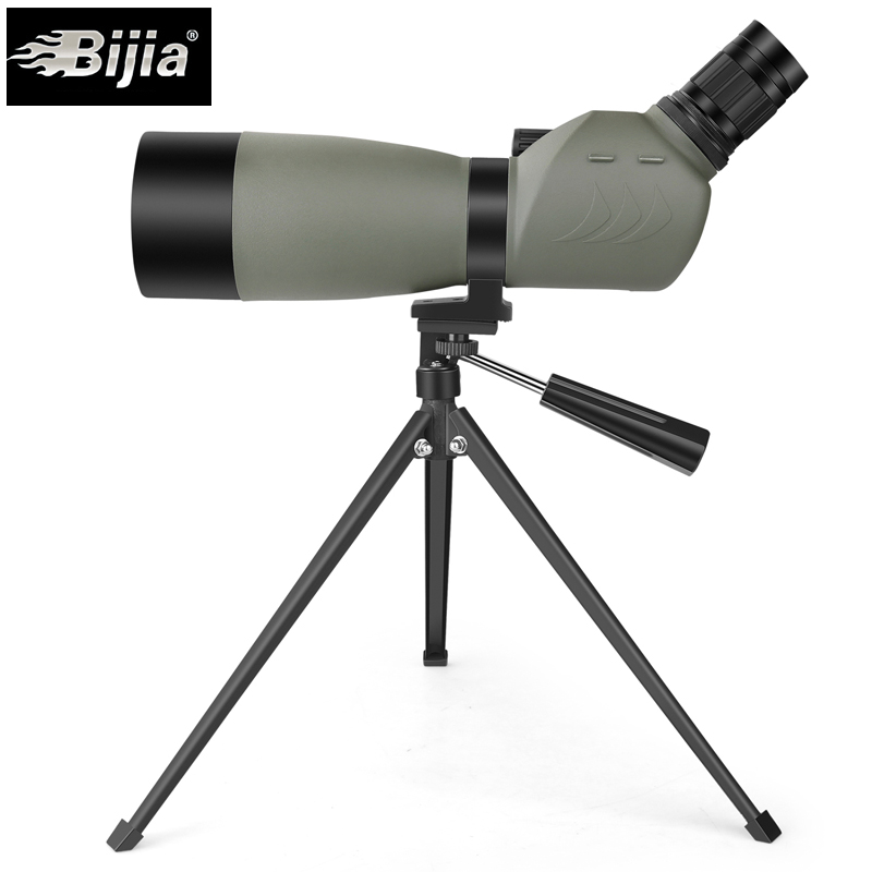 BIJIA 20-60x60 bird watching telescope BAK4 prism zoom monocular waterproof spotting scope with tripod 20 60x70 zoom spotting scope monocular outdoor telescope with portable tripod monoculares professional bird animal telescope