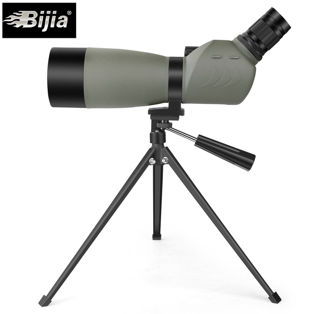 bijia 20 60x60 bird watching telescope bak4 prism zoom monocularbijia 20 60x60 bird watching telescope bak4 prism zoom monocular waterproof spotting scope with tripod
