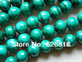 Free shipping natural green malachite  10mm round european beads stone for jewelry making