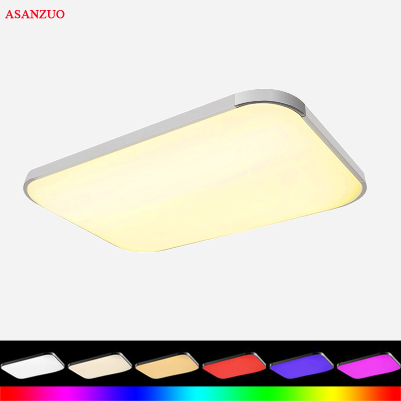48W Acrylic LED Ceiling Lights Lamp Luminaria Ceiling Light With Remote Control Dimmable Color And RGB Changing Fixtures 48W Acrylic LED Ceiling Lights Lamp Luminaria Ceiling Light With Remote Control Dimmable Color And RGB Changing Fixtures