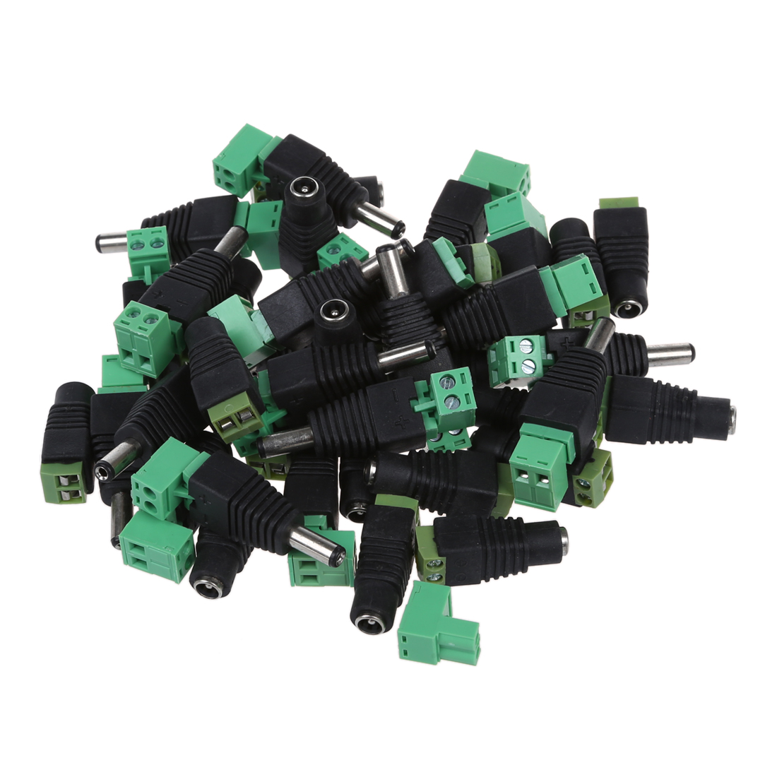 20 Pairs Male & Female 2.1x5.5mm DC Power Jack Plug Adapter Connector for CCTV zinuo dc12v 5pcs male 5pcs female 2 1x5 5mm dc power plug jack adapter connector plug for cctv single color led strip light