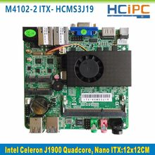 Hcipc ITX-HCMS3J19, celeron j1900 quad core nano itx placa-mãe, embutido mainboard
