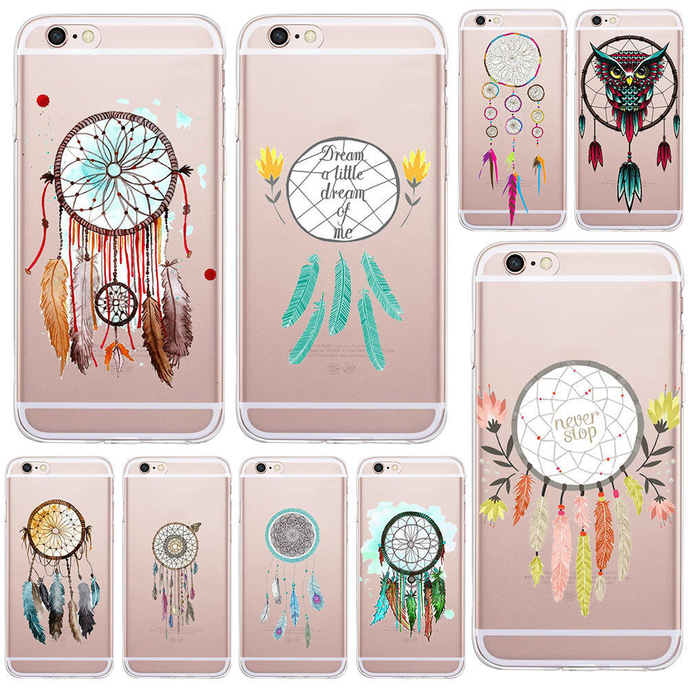 Mysterious Beautiful Dreamcatcher Soft Silicone Tpu Case For Apple iPhone 6 6S Back Cover Phone Cases Hot Selling