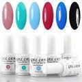 Gel Len 6 unids esmalte de uñas de Gel marca LED barniz Gel de larga duración arte del clavo de DIY UV Soak Off Gel esmalte de uñas