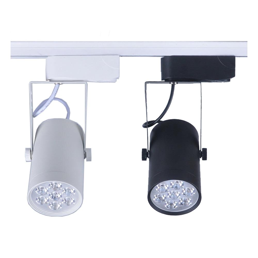 track lighting rails. Best Deals 1pcs 7W Led Track Light AC110V 220V Aluminum White And Black Shell Rail Ceiling Lighting Spotlight Price Now Rails