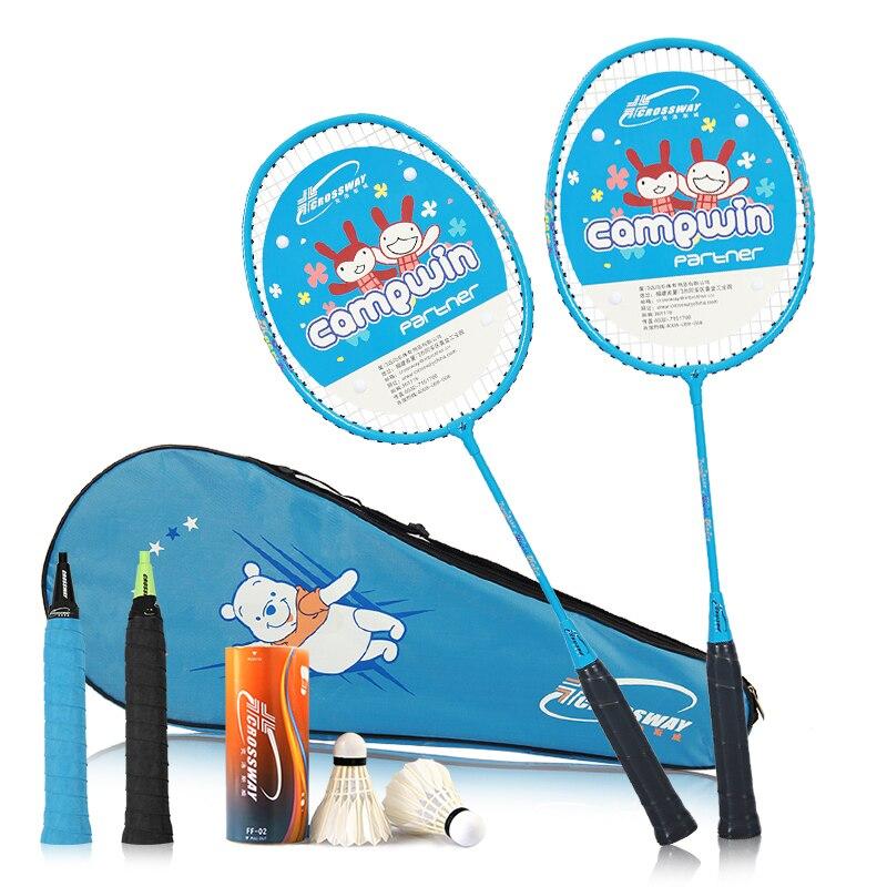 COROSSWAY Racket Lightweight Racquet Badminton With Badminton Bag 2Pcs Aluminium Alloy Training Badminton Racket Sport Equipmenl