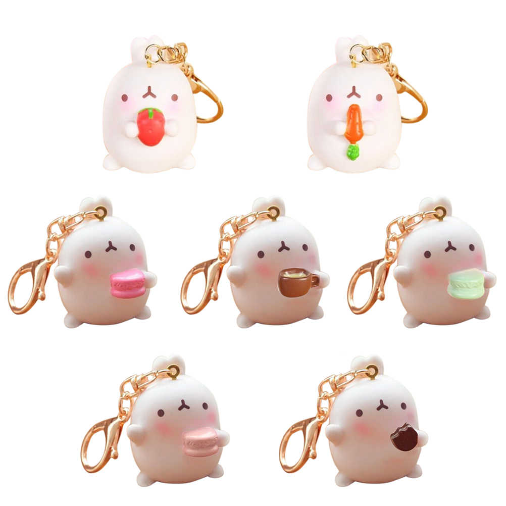 JINHF Kawaii Rabbit Squishy Slow Rising Cute Animal Soft Squeeze Straps Pendant Scented Bread Kid Toy Fun Gift