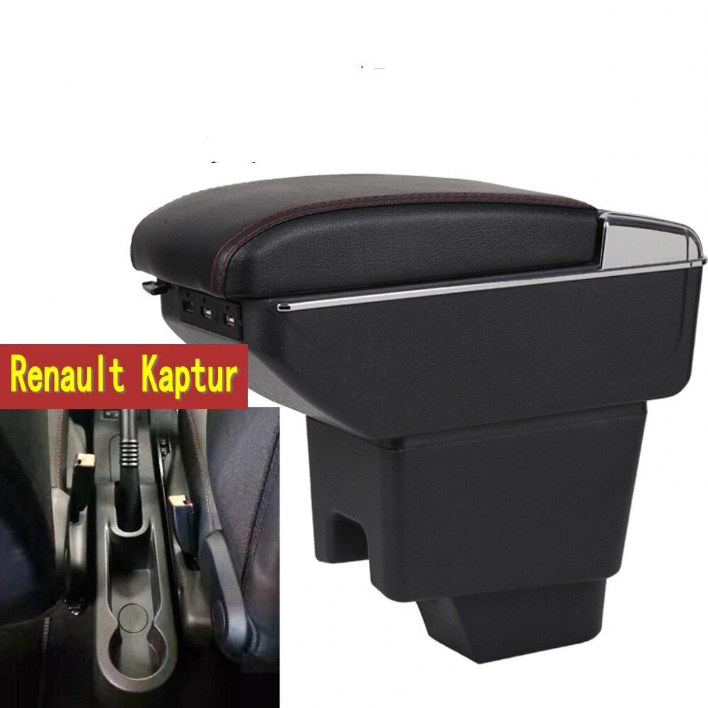 Para Renault kaptur caja de reposabrazos almacenamiento central contenido Captur caja de reposabrazos