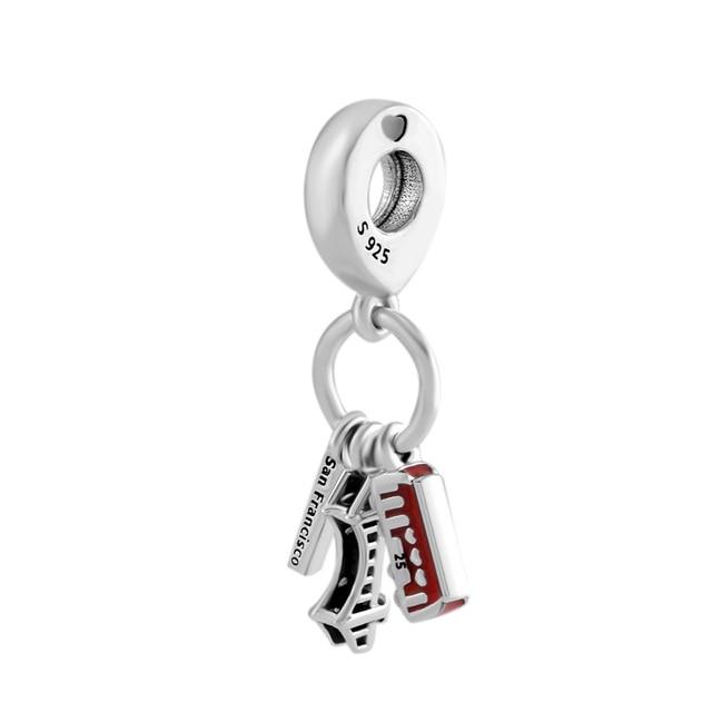 Fits Pandora Bracelets Charms 925 Sterling Silver San Francisco
