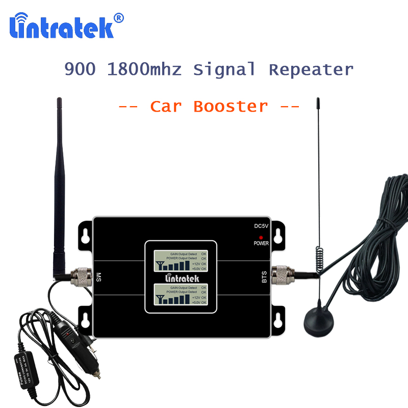 Car Repeater 900 1800 Mhz 4G Signal Cellular Booster Lte 1800 GSM Repetidor With 10m Cable Cellphone Amplifier GSM 2G Car Use 41