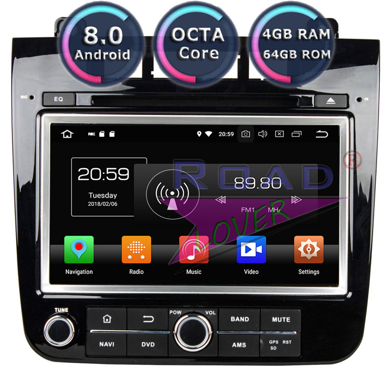 Roadlover Android 8.0 Car DVD Player Radio For Volkswagen VW Touareg 2010 2014 Stereo GPS Navigation Automagnitol 2Din Octa Core