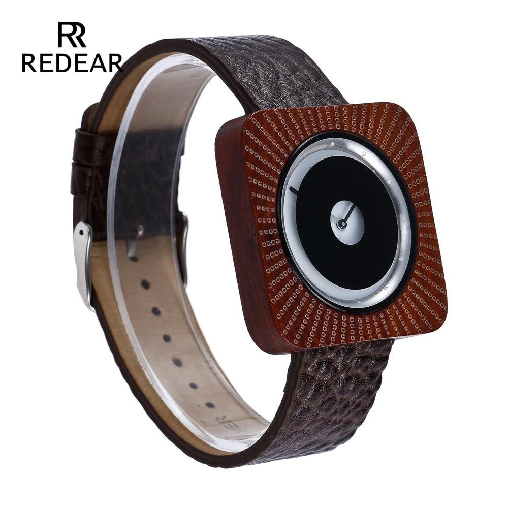 REDEAR Ρολόγια Ρολόι Μπαμπού για Άνδρες - Γυναικεία ρολόγια - Φωτογραφία 3