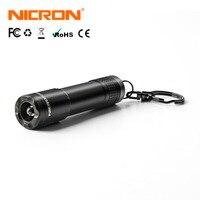 NICRON 20LM от 24 мес. до 1 АА Батарея 10 часов брелок свет микро мини фонарик напольный светильник Водонепроницаемый IPX4 для дома светодиодный факел...