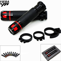 22MM Motorcycle Carbon fiber Hand Handle Grips Handlebar FOR Yamaha YZF R125 YZF R15 YZF R25 YZF R3 MT 02 MT 25 YZF R1/R1M Z900