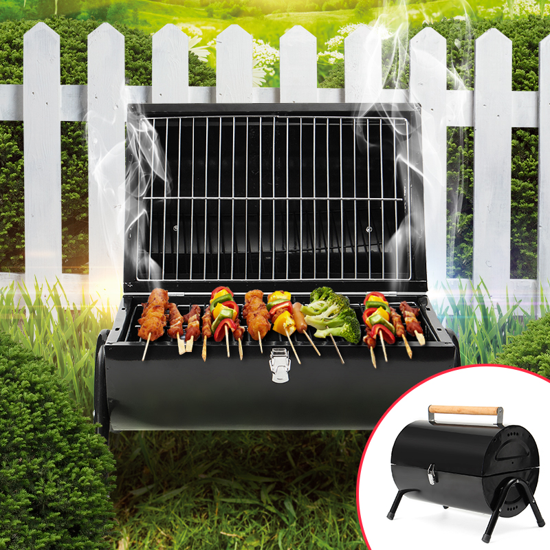 Outdoor Barbecue Rack Barrel Portable Household Charcoal Grills BBQ Barbecue Grill Garden Outdoor Camping Picnic Cook BBQ Tools Гриль