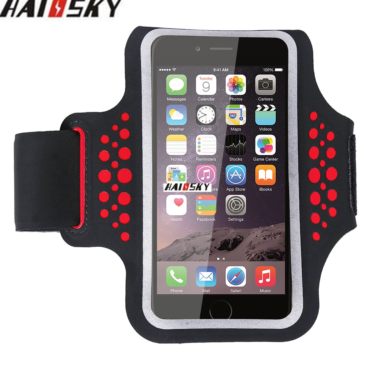 HAISSKY Sport Running Armband Waterproof Arm Band Case Bag For iphone 7 6 6s Phone Pouch Cover for Samsung Galaxy S7 S6 S5 S4 S3 pochette étanche pour téléphone