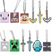 Fashion Game Necklace Steve Alex Enderman Creeper Ender Dragon Pig Metal Jewelry(China)