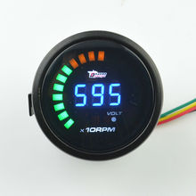 New 2″ 52mm Car Tachometer Digital Color Analog LED Tachometer Gauge Auto Gauge Car Clock Car Gauge Meter RPM Free Shipping
