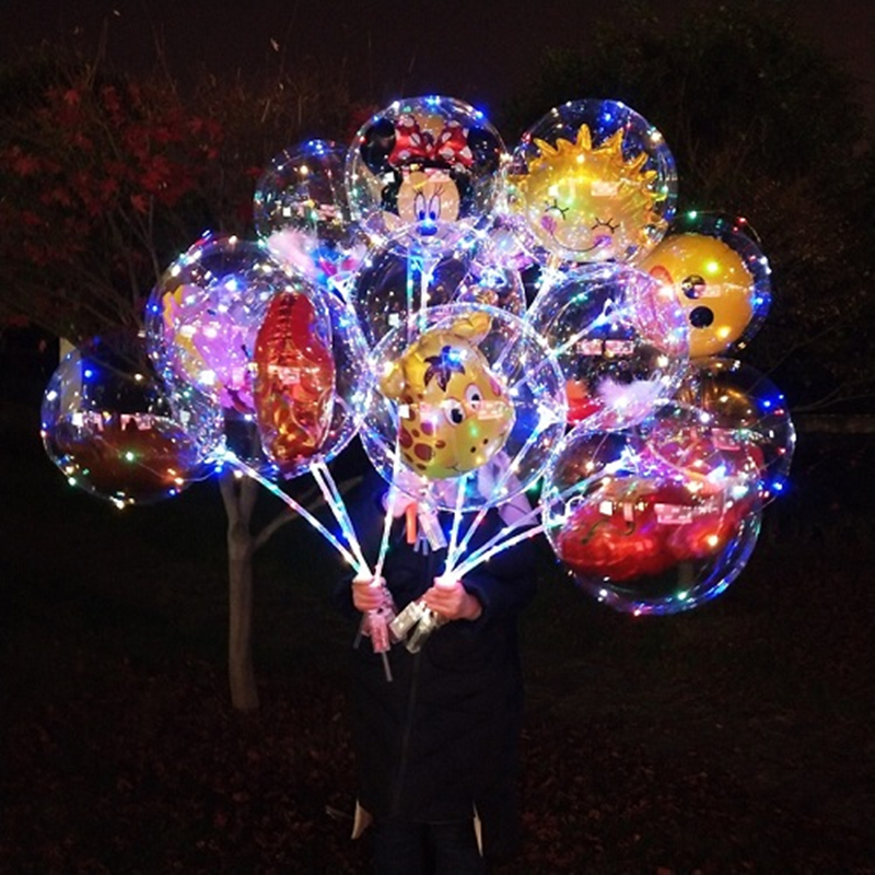Ballons & Accessories 10set Led Balloon Transparent Ball Wedding Birthday Party Kids Adult Bobo Orbs Air Balloons Globos Cumpleanos Infantiles Ballon