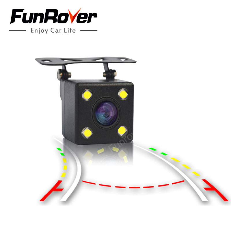 Funrover Intelligent Dynamic Trajectory Tracks Achteruitrijcamera HD CCD Reverse Backup Camera Auto Achteruitrij-parkeerhulp