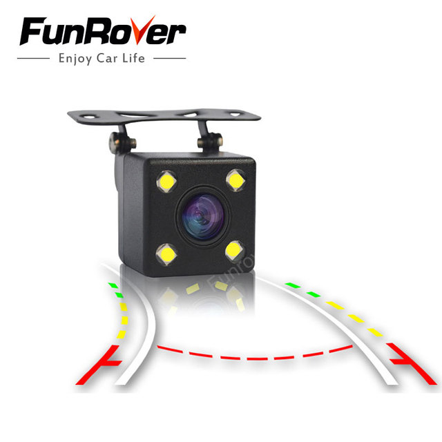 Funrover Intelligent Dynamic Trajectory Tracks Rear View Camera HD CCD Reverse Backup Camera Auto Reversing Parking Assistance