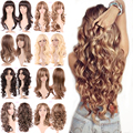 Young Ladies Long Hair Wig Natural Deluxe Curly Wavy Layer Ombre Full Head Wigs Heat Resistant Anime Fancy Dress
