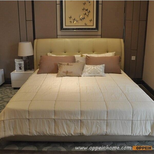 Oppein Venta caliente cereza madera/cama doble rey/reina tamaño cama ...