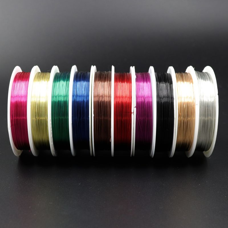 10PCS 0.3 0.4mm Sturdy Beading Cord String Alloy Copper Wire For Jewelry Making Diy Accessories Finding And Component Wholesale
