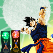 Novelty Dragon Ball Goku Strength Bombs Colorful Night Lights 110V 220V Home Decor Table Lamp EU US Plug Blue Red Green Lighting