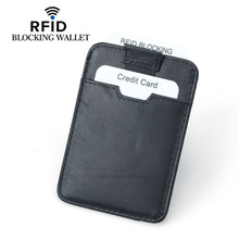 Wholesale 2019 New Men Card Holders Rfid Wallets Genuine Leather Rfid Blocking Card Holder For Men Rfid Protected Wallets fashion genuine leather rfid protection men wallets business small zipper coin purses mini card holders with rfid blocking