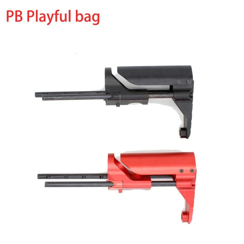 Enfants PDW arrière BD556 scission de sport boîte support télescopique jinming8 gen8 meilleur cadeau eau électrique bullet gun butt jouet KI69