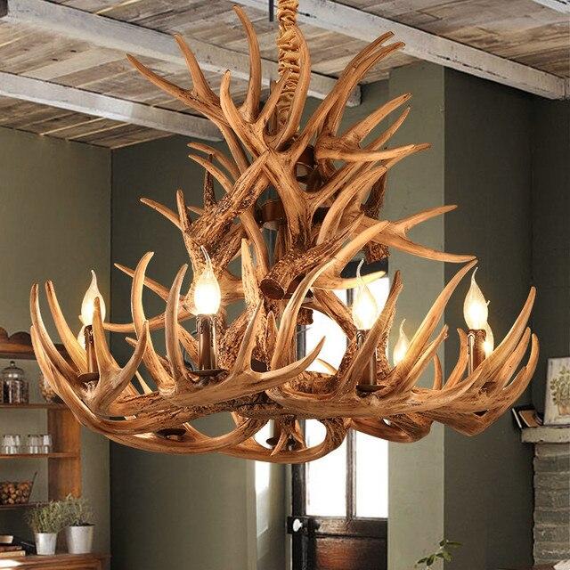 geweien hars kroonluchter lamp moderne led antler kroonluchter lustre kroonluchters e14 vintage. Black Bedroom Furniture Sets. Home Design Ideas