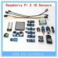 16PCS Raspberry pi 2 the sensor module package 16 kinds of sensor Free shipping F222